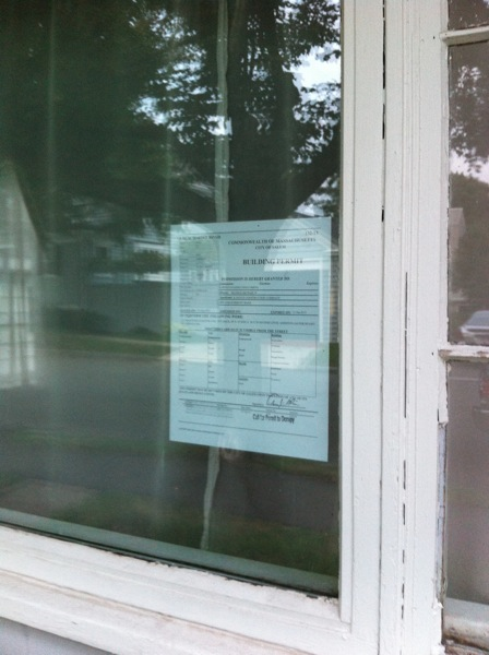 permit in window